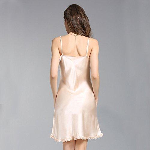 LSHARON -  Camicia da notte  - Donna Champagne