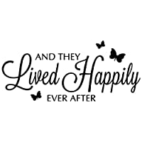 Kult Kanvas And They Lived Happily Ever After Vinyl Wall Sticker Home Sayings Popular 60cm x 136cm