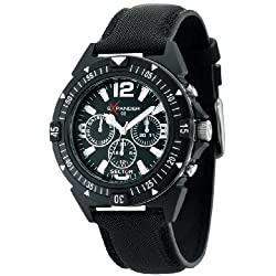 Sector Men's Quartz Watch with Black Dial Analogue Display and Black Fabric Strap R3251197007