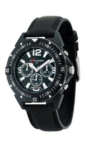 Sector no limits orologio da uomo cronografo al quarzo con cinturino in tessuto – r3251197007