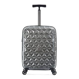 Antler Suitcase Atom, 4 Wheel Spinner, Cabin, 55cm-36L, Charcoal