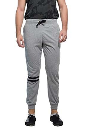 Alan Jones Clothing Men's Solid Milanch Track Pants, Small(Grey, JOG01-TRIM-MIL-S)