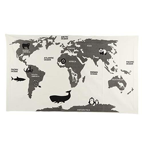 Zerodis- Alfombra de Juegos para bebés, Alfombrilla de Mapa del Mundo Infantil...