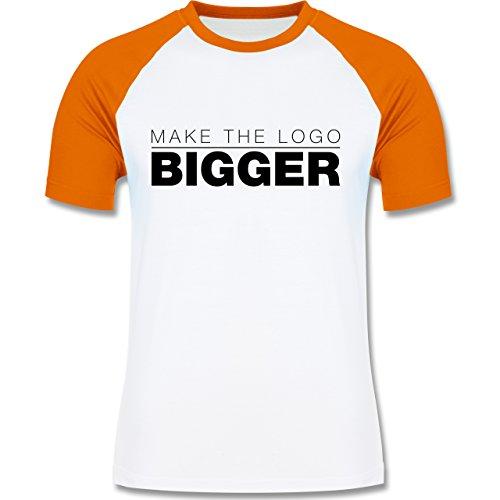 Designer - Make The Logo Bigger - Grafiker - zweifarbiges Baseballshirt für Männer Weiß/Orange