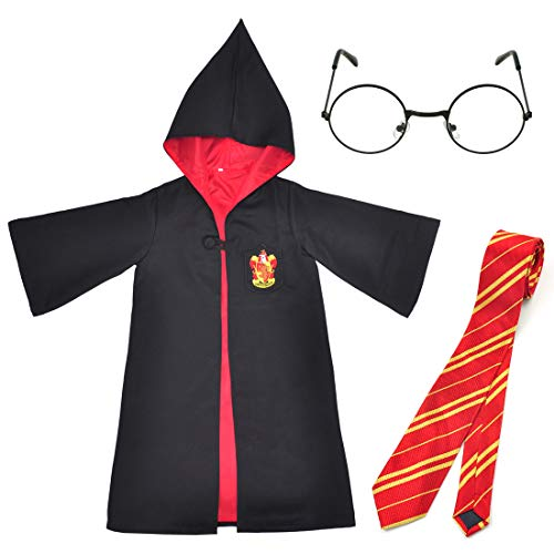 Gift4Fever Harry Kinder Zauberer Kostüm, Mantel, Brille & Krawatte Größe: 150 (Harry Potter Kind Kostüm Kit)