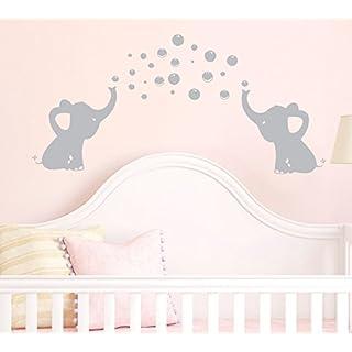 BDECOLL Elefant Bubbles Wandbild Aufkleber Kinderzimmer Decor/Vinyl, Motiv: Elefant Aufkleber/Sticker, ablösbar, für Kinderzimmer