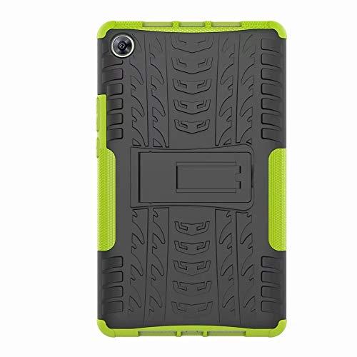 FANFO Huawei MediaPad M5 8.4 Hülle, [Dual Layer Armour Series] Anti-Scratch PC Rückwand Schale + Stoßfeste TPU Innenschutzabdeckung + Faltbarer Halterungen.Grün