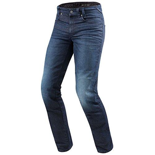 REV'IT! Motorrad Jeans, Motorradhose Vendome 2 RF Jeanshose dunkelblau Used 34/36, Herren, Chopper/Cruiser, Sommer, Textil