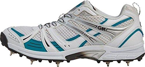 gunn-moore-six-6-pinchos-cricket-zapatos-calzado-deportivo-cordones-para-zapatillas-blanco-11