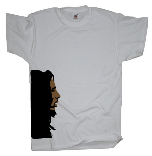 Ma2ca - Reggae Marley Head - T-Shirt White