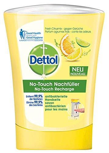 Dettol No-Touch Recharge pour distributeur de savon automatique Senteur pamplemousse 250 ml