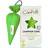 MANGALAM CamPure Camphor Cone, 45 Days Scent as Room Freshener with Mosquito Repellent Properties (Jasmine) -2 Pack