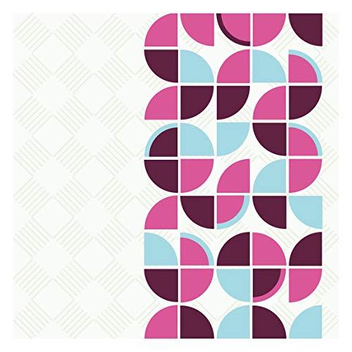Tapete selbstklebend - Retro Kreise Musterdesign Fototapete Quadrat 192x192 cm (Raumteiler Kreis)