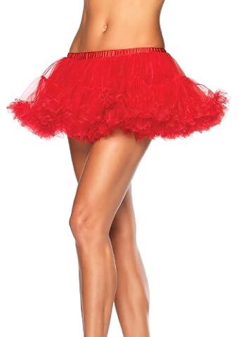 Leg Avenue Mini Petticoat en Chiffon Rouge Taille Unique