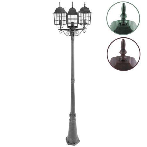 Jago Standleuchte Garten-Grau mit drei Lampen