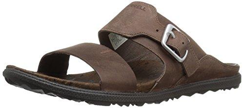 Merrell Damen-Sandalen Vesper, mit mehreren Riemen, flach, Braun - braun - Größe: 40.5 EU (Antimikrobielle Sandalen Leder)