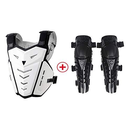 TZTED Protektoren Anti-Fallen Motocross Bike Ausrüstung für Radfahren Rückenprotektor zum für Damen & Herren,Black+White