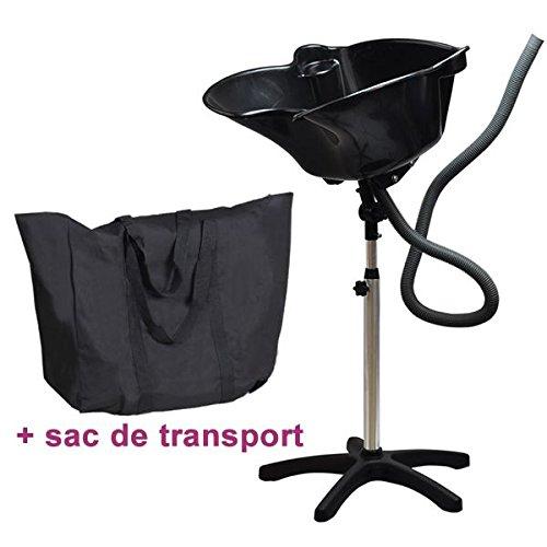 Mobiles Friseurwaschbecken schwarz mit Tasche