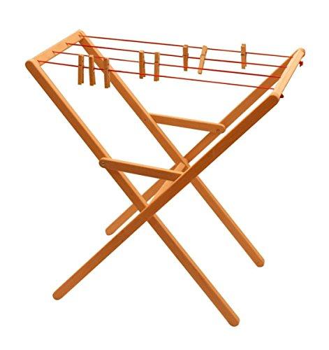 Preisvergleich Produktbild 932-2332 Drewart Wäscheständer aus Holz, Erle mass. ökologisches Holzspielzeug