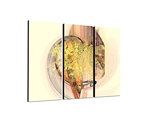 Abstract Image 3 x 90 x 40 CM ABSTRAKT272 tracks for Eternity-Framed Canvas Art Print Pre-Strung Triptych Artwork