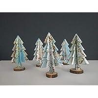 """5er-Set Deko""""kleiner Tannenbaum"""" aus Landkarten/Tischdeko/ Weihnachtsdeko/Christbaum/Weihnachtsbaum"""