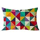 b9fcface21d JiaMeng Cojines Geométrico Decorativa Almohadas Fundas para Sofá Cama Sala  de Estar Rectángulo Cojín de Seda