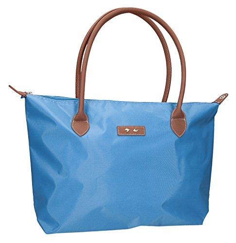 Depesche 8535 - Handtasche LOVE, 47 x 31 cm, azurblau Preisvergleich