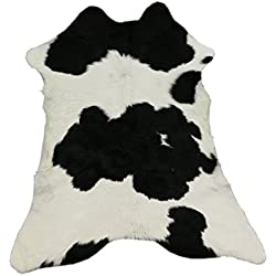 Zerimar Alfombra Piel de Vaca Becerro Natural Premium | Medidas: 100x90 cms | Alfombra Salón | Alfombra Salón Grandes | Alfombras de Pelo