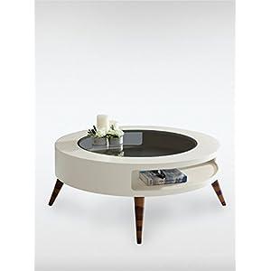 Designer Couchtisch GOLF Weiss (BxTxH) 99 X 99 X 39 Von Roombird