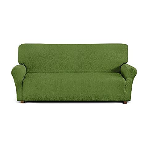 4-Seater Sofa Cover in Elasticated Fabric, Green