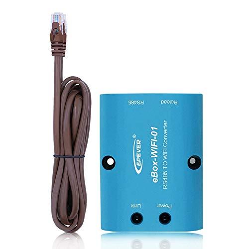 KNOSSOS eBox-WIFI-01 RS485 Serial Server for Solar Controller M4 Core CPU DC 5V, Blue
