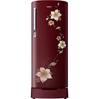 Samsung 192 L 2 Star Direct Cool Single Door Refrigerator(RR19N1822R2/HL / RR19R2822R2/NL, Star Flower Red, Base Stand with Drawer)