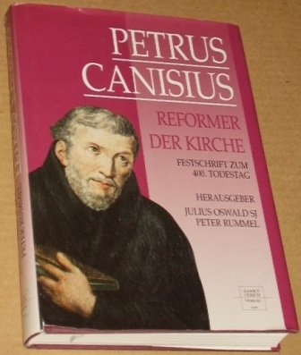 Oswald, Julius [Hrsg.]: Petrus Canisius. Reformer der Kirche ; Festschrift zum 400. Todestag des zweiten Apostels Deutschlands. 2. Aufl. Augsburg, Sankt-Ulrich-Verl., 1996. Gr.-8°. 366 S., 98 Abb. a. Taf. Ppbd. SU. (ISBN 3-929246-17-1)