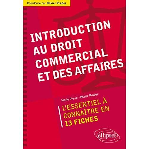 Introduction au Droit Commercial et des Affaires l'Essentiel à Connaître en 13 Fiches