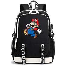 c3daabaec Super Mario Modelos de Pareja Mochila Multifuncional de Diseño Escolares  Popular Cómodo Mochila de Viaje Durable