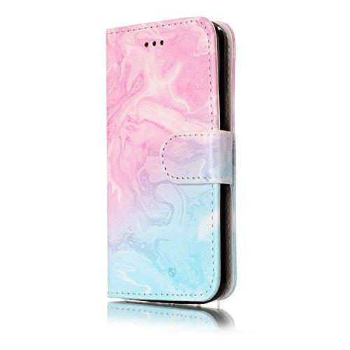 iPhone 5C Cuir Coque housse Etui,Vandot Case Cover pour iPhone 5C Fermeture Eclair Leather Money Sac Carte Bag Protection telephone Hull Cas Portefeuille + Stylet- Noir Marbre-03