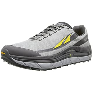 Altra Men's Olympus 2 Trail Running Shoe, Silver/Cyber Yellow, 9 M US