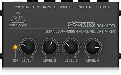 Behringer MICROMIX MX400 4-Kanal Line-Mixer (Mischpult 502)