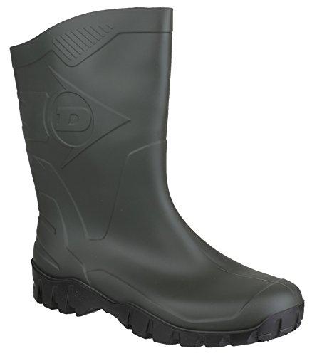 Dunlop Mens 21858-35225 Green Dee Calf Unisex Wellington Boot