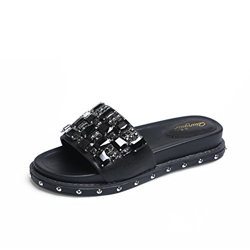 Muffins,Thick-soled,Chaussons/Lady,Summer,Rivet,Talons Moyens,A-ligne Chausson A