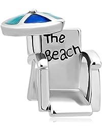 korliya Holiday la playa silla encanto cuentas para pulsera