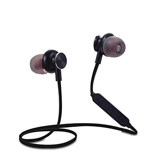 B5645ells Sports Freisprecheinrichtung Bluetooth Kopfhörer Stereo Stereo Ohrhörer mit Mikrofon - Schwarz