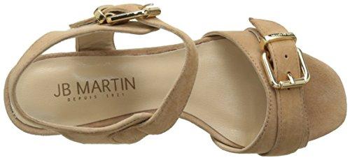 Jb Martin 3helie, Laccetto Alla Caviglia Donna Beige (Chevre Velours Fauve)