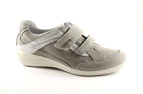 ENVAL SOFT 39301 gris chaussures femme chicots zeppetta de sport Grigio