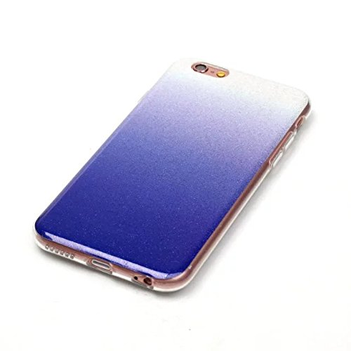 Wkae Case Cover Transparent Gradient couleur souple TPU Housse de protection souple de couverture pour iPhone 6 6s ( Color : Gray , Size : IPhone 6 6s ) Deep Purple