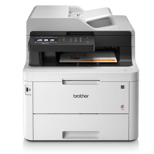Brother MFCL3770CDWYY1 Stampante Multifunzione a Colori LED con FAX, 24 ppm, Wi-Fi, Ethernet, NFC, USB 2.0 Hi-Speed, ADF da 50 Fogli, Stampa e Scansione Fronte-Retro, Display Touchscreen