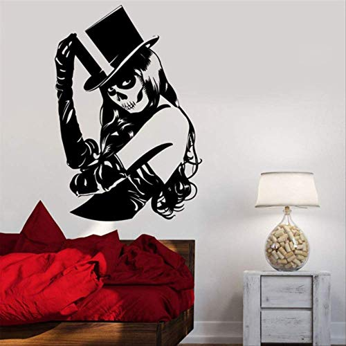 hzcl Skull Girl Sexy Pattern Wanddekalen Green Zombie Crippy Art Designed Wall Sticker Special Home Decor Wall ()