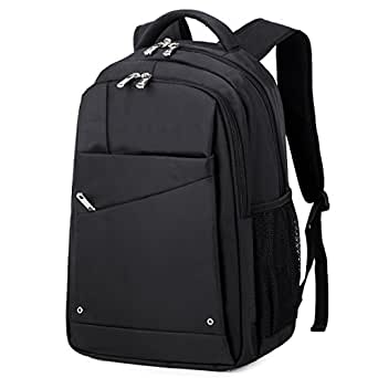 Black Laptop Backpack Men's Waterproof Large Capacity ...