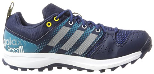 adidas Herren Galaxy Trail Laufschuhe Blau (Collegiate Navy/footwear White/eqt Yellow)