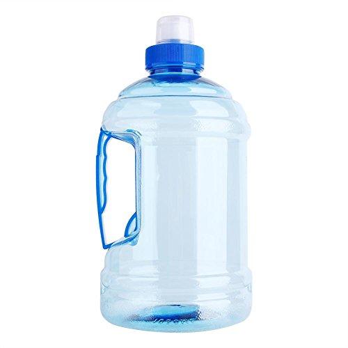 Bottiglia di acqua di sport, 1l grande bpa libero tappo di bottiglia di plastica bollitore bere contenitore con maniglia per palestra di fitness partito di allenamento all'aperto